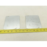 """Steel City 72C1 Blank Galvanized Electrical Box Cover 4-11/16"""" Square Lot of 2"""