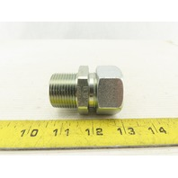 """Parker 16MSC16N 1"""" Comp. to 1"""" NPT Straight Adapter Union Steel Zinc Plated"""