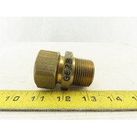 "1"" Comp. to 1"" NPT Straight Adapter Union Brass"