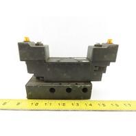 Parker AL43523BKN5300B Pneumatic Solenoid Control Valve 120V W/Manifold Block