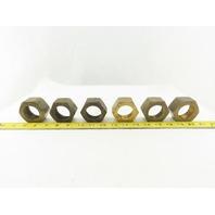 """Parker 20 BTX-B Triple-Lok 1-1/4"""" 37° Flare Tube Nut Brass #20 JIC Lot of 6"""