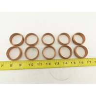 "1-1/4"" Tube Copper Compression Fitting Sleeve Ferrule Ring Lot of 10"