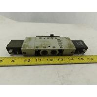 Numatics L23BB552B000061 5/3 Position Double Solenoid Air Valve 24VDC Coil