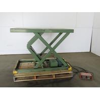 "American 4000Lb Hydraulic Scissor Lift 61x32"" Table 8""45"" Ht 115V Single Phase"
