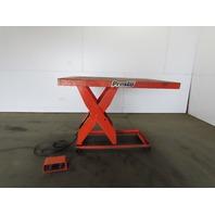 "Presto 3000Lb Hydraulic Scissor Lift 60x48"" Table 10""- 45"" Ht 115V Single Phase"