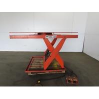 "Presto 4000Lb Hydraulic Scissor Lift Table 72x60"" Turn Top 8-43"" Height 115V 1Ph"