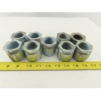 "1"" Coupling Union 3 Piece Steel-Zinc Plated For Rigid/IMC Conduit Lot of 9"