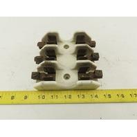 Union Electric 31-60A 250V 3 Pole Ceramic Fuse Holder