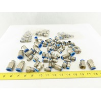 Festo Huge Misc. Lot Stainless Steel Metric Push To Connect Fittings 50+ Pcs.