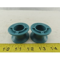 """1"""" Wide Hard Plastic Groove Guide Roller Light Duty 1"""" Bore Lot Of 2"""