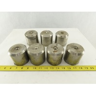 """3"""" OD x 3"""" Tall Heavy Stainless Steel Machine Table Riser Lot Of 7"""