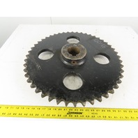 "#120 Single Row Sprocket 2-7/8 Keyed Bore 48 Tooth 24"" O.D."