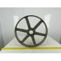 "Cast Iron 24"" Diameter 2-3/4"" Wide Flat Surface Pulley/Idler SF Bushed Bore"