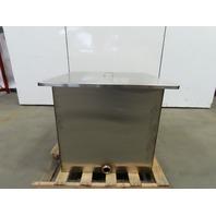 "116.88 Gallon Open Top 304 Stainless Steel Tank 16Ga 30""x30""x30"" W/Lid"