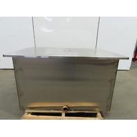 "187.01 Gallon Open Top 304 Stainless Steel Tank 16Ga 30""x48""x30"" W/Lid"
