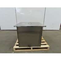 "59.84 Gallon Open Top 304 Stainless Steel Tank 16Ga 24""x24""x24"" W/Lid"