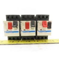 Schneider Electric Telemecanique GV2ME07/1.6-2.5A Manual Motor Starter Lot of 3