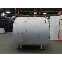 2000 Gallon Stainless Steel Horizontal Jacketed Milk Storage Tank W/Mixer