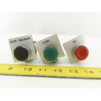 Parker PXB-B391 Pneumatic Valve W/Green Red & Black Push Button Moment. N.O.Lot3