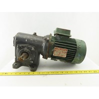 Morse Leroy Somer 20:1 Ratio 86 RPM Output 3/4Hp 3Ph 208-230/460V Gear Motor