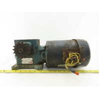 Tigear Q175B040M056K1 40:1 Ratio 43RPM Output 3/4Hp 208-230/460V Gear Motor