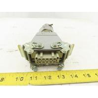 Harting HAN-E10F 10 Pin Female Lever Lock 16A 380V Straight Connector SKV29