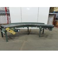 "Hytrol 190-LRC 90° Live Powered Roller Curve Conveyor 34"" W/Legs 208-230/460V"