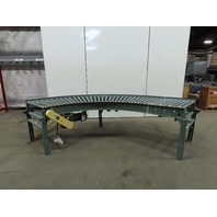 "Hytrol 190-LRC 90° Live Powered Roller Curve Conveyor 34"" 208-230/460V 3Ph"