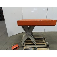 "2500Lb Hydraulic Scissor Lift Table 48""x32"" 115V Single Phase 12""x43"" Hight"