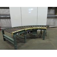"""Hytrol 25-CRRC 54"""" Chain Driven 90° Live Power Roll Curve Conveyor 208-230/460V"""