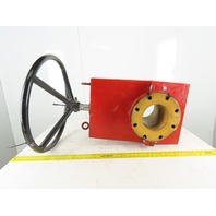 "Manual 6"" Flanged Pinch Valve W/24"" Hand Wheel 150PSI WP"