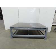 "1-1/4"" Thick Top Steel Fabrication Layout Welding Table Work Bench 72""x60""x25"""