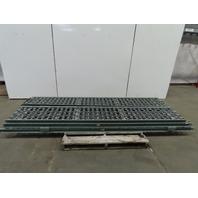 "Hytrol 3SW-18-20 Steel Skate Wheel Gravity Conveyor 57' 4"" (6) Sections"