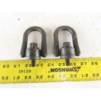"""ABD 2-1/4 Wide x 2"""" Tall 450KG Load Swivel Hoist Flip Ring M10X1.5 Stud Lot Of 2"""