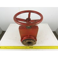 """Red Valve Series 75 Manual 4"""" Flanged Pinch Valve W/12"""" Hand Wheel 150PSI WP"""