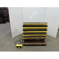 """Southworth 2000lb Scissor Lift Table 48""""x28"""" 115V 1 Phase 6 to 41"""" Ht. W/Bellows"""