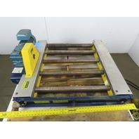 "Power Pack LIFT27-3 26"" BF 33"" Long End Stop Live Roller Conveyor 208V 3Ph 47FPM"