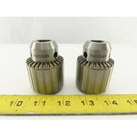 "1/16"" - 1/2"" Drill Chuck - 1/2-20 Thread Mount Lot of 2"