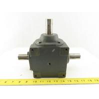 """Hub City 0220-00802-150 Model 150 1:1 Ratio Right Angle Gear Box 1"""" Shaft"""