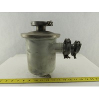 "Leybold AS 8-16 Vacuum Pump System Dust Separator Canister 1"" x 1/2"" Ports"