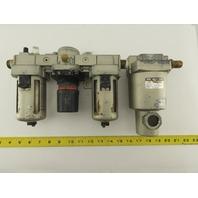 """SMC NAF4000 NAR4000 AMG350 Pneumatic Filter Regulator Lubricator Dryer FRL 1/2"""""""