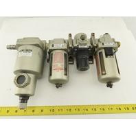 """SMC AF40-N04-Z AMG350 Pneumatic Filter Regulator Lubricator Dryer FRL 1/2"""""""