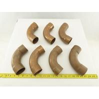 """Streamline 2"""" Wrot Copper Sweep 90° Elbow Sweat Solder Lot of 7"""