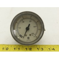 "US Gauge 0-200 PSI 0-14 BAR 1/4"" Panel Mount Pressure Gauge"