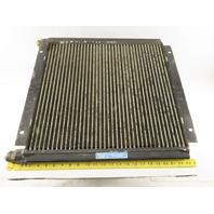 "Ingersoll Rand 1E3236C 20-1/4 x 17-3/4"" Finned Aluminum Cooler Plate 3/4"" Ports"