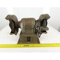 """Black & Decker Cat No 76 Vintage 8"""" 220/440V 3Ph 3/4Hp Bench Grinder Buffer"""