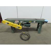 "Hytrol TA 70"" Slide Bed Conveyor 8"" Belt 34FPM 115V 1Ph W/Legs"