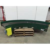 """Rapistan 30"""" LH Power 90° Curve Flat Top Slide Bed  Belt Conveyor 93FPM 230/460V"""