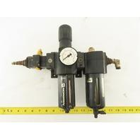 """Norgren L74M-4AP-QPN 1/2"""" Air Pressure Regulator Filter Lubricator FRL 150 PSI"""
