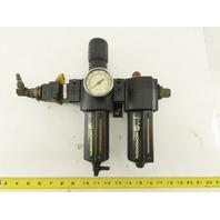 "Norgren L74M-6AP-EDN 3/4"" Air Pressure Regulator Filter Lubricator FRL 250 PSI"